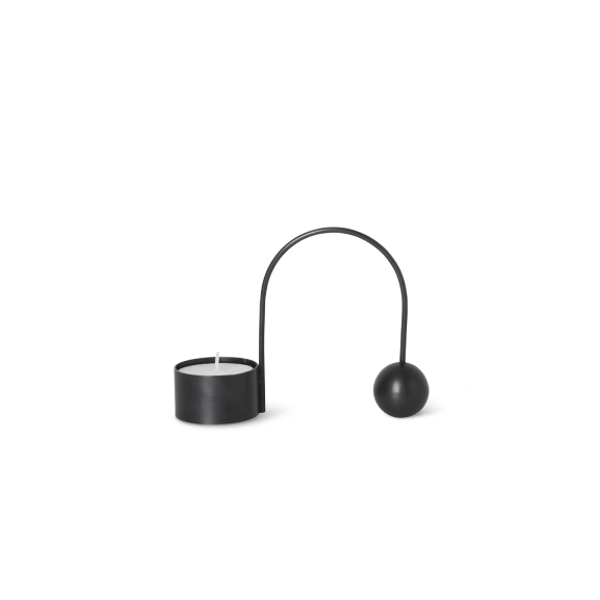 Bilde av Ferm Living Balance Tealightholder - Black Brass