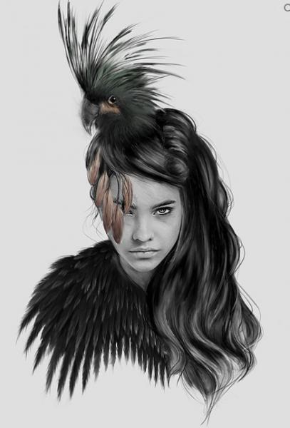 Bilde av Linn Wold Little Bird 50x70
