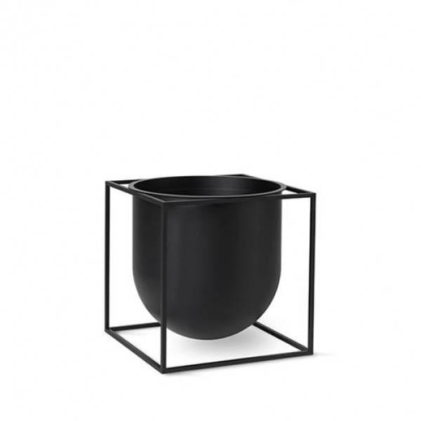 Bilde av By lassen Kubus flowerpot 23, svart