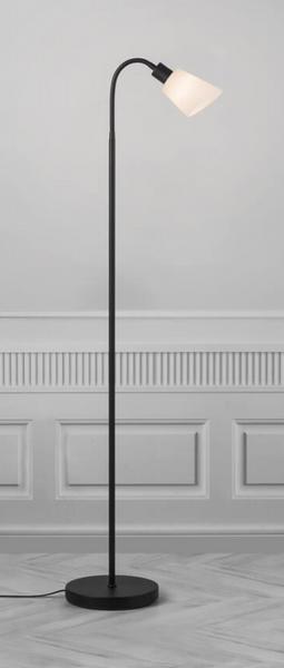 Bilde av Nordlux Molli gulv sort/opal e14
